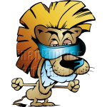 Cool Lion Wearing Blueray Sunglasses