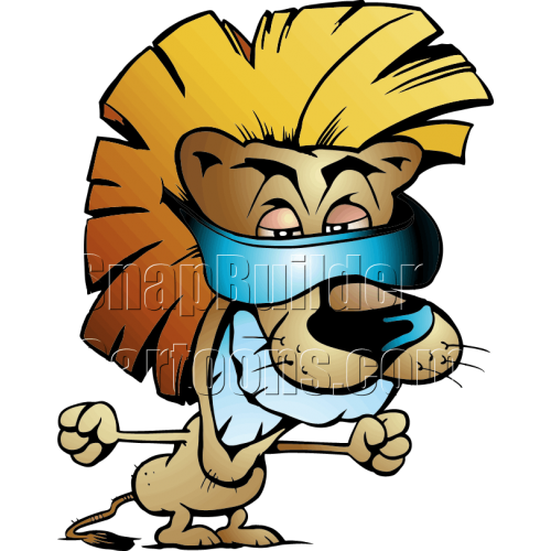 Cool Lion Wearing Blueray Sunglasses