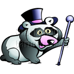 Panda Bear with Walking Staff