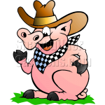 BBQ Pig with Hat & Scarf