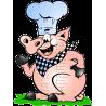 Chef Pig BBQ Mascot Logo