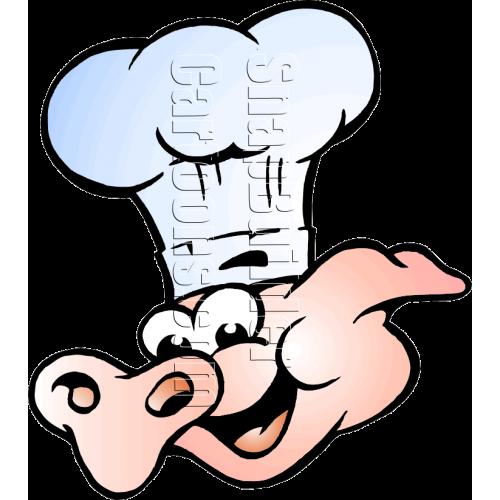 Chef Pig Head Mascot Logo