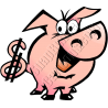 Pig with Dollar Sign Tail