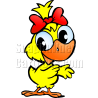 Chicken Hen with Red Bow