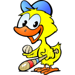 Chicken Baseball Player