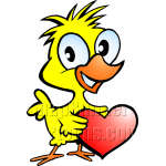 Chicken Holding Heart