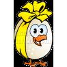 Chicken Egg Wearing Yellow Ribbon