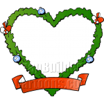 Christmas Fraim Blank Heart Shaped Wreath