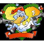 Christmas Fraim Duck with Pistols