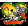 Christmas Fraim Mouse Holding Candy Cane