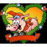Christmas Fraim Pig