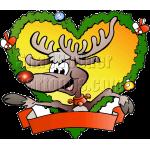 Christmas Fraim Reindeer with Blank Ribbon