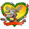 Christmas Fraim Reindeer with Blank Ribbon