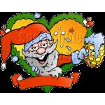 Christmas Fraim Santa with Cup of Cocoa