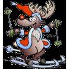 Christmas Reindeer Skiing
