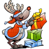 Christmas Reindeer Stacking Gifts