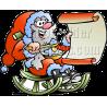 Christmas Santa with Blank Scroll List