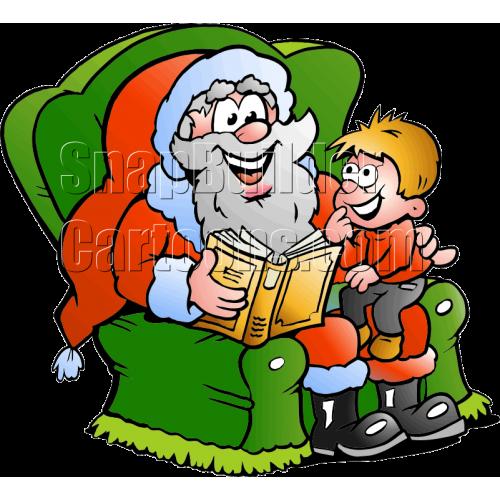 Christmas Santa with Little Boy