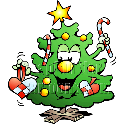 Christmas Tree Holding Candy