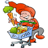 Christmas Elf with Shopping Basket