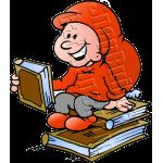 Christmas Elf Reading Book on Books