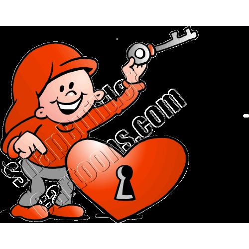 Christmas Elf with Heart & Key