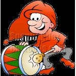 Christmas Elf Playing Drum