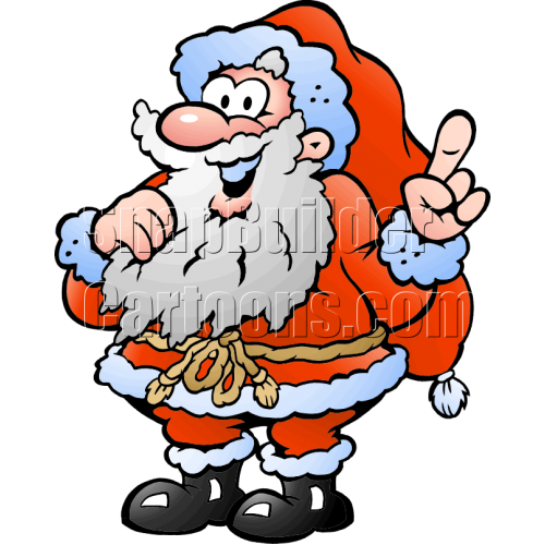 Christmas Santa Pointing Finger Upwards