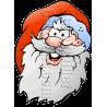 Christmas Santa Head Mascot