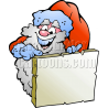 Christmas Santa Pointing at Blank List