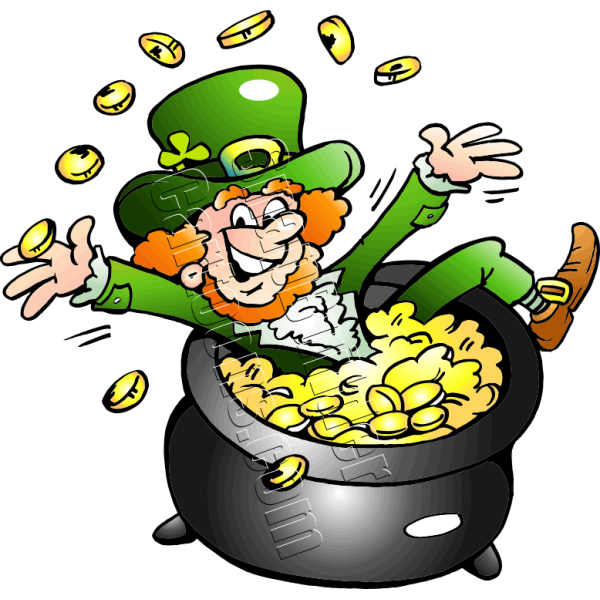 Leprechaun sitting in pot of gold altavistaventures Gallery