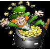 Leprechaun Sitting In Pot of Gold