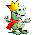 Frog King in Red Cape