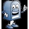 Postal Mailbox Blue Color