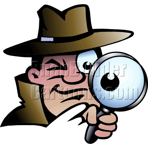 Agent Spy with Magnifier Glass