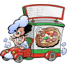 Pizza Chef Deliver Pizza