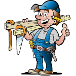 Carpenter Handyman with Carpentry Tools