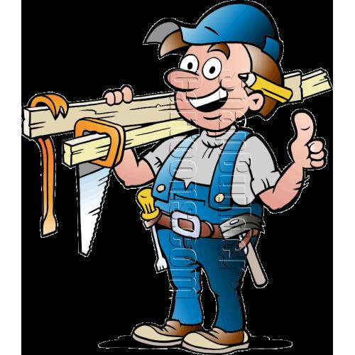 Carpenter Handyman with Carpentry Tools