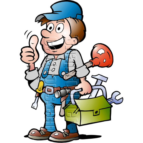 Plumbing Handyman with Plumbing Tools