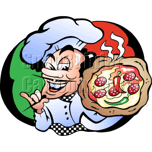 Pizza Chef Holding Pizza Pie