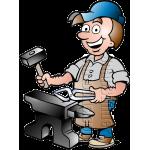 Blacksmith Worker with Blacksmith Tools
