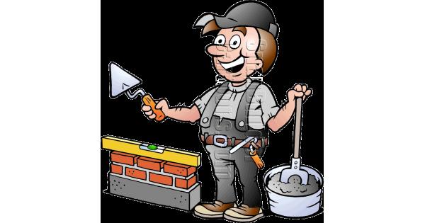 Bricklayer With Mason Tools