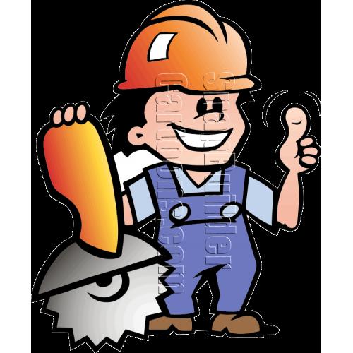 Mechanic Man with Saw & Hard Hat